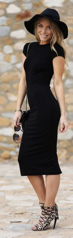 Alexandra Vrai Black Bodycon Dress