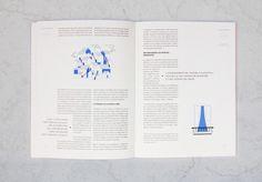 Double page avec de l'inspiration macro typographique du design éditorial du magazine Influencia n°11