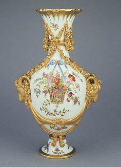 Sevres porcelain vase; c. 1800