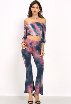 Tie Dyed Flare Pants