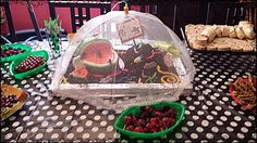My mother created the watermelon cake for my 3 year old and a brownie dirt pile for my 6 year old.
