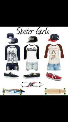 Skater girl outfits. I would probably get longer shorts with this