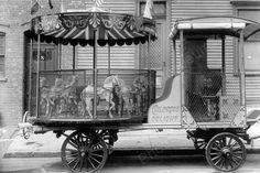 Children's Delight Carousel 1930s 4x6 Reprint Of Old Photo
