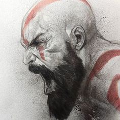 Check out for more! Awesome piece by 💀 . Shared by 🐝 . Character Drawing, Comic Character, Santa Monica, Comic Books Art, Comic Art, Marvel Dc, Ben Oliver, Kratos God Of War, Anatomy Sketches