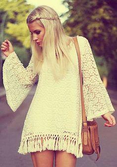 How to Chic: CROCHET SHORT DRESS
