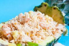 Receta de arroz con gambas y piña