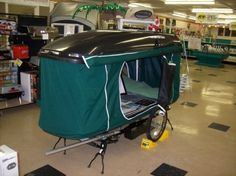 "Trans Canada Trailer Company ""R-Escape"" bike camper"