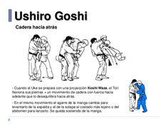 Ushiro Goshi Cadera hacia atrás - Cuando el Uke se prepara con una proyección Koshi Waza, el Tori flexiona sus piernas + u...