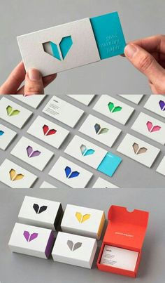 Cute way to promote your company! Businesscards