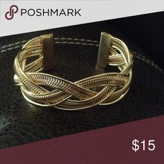 Gorgeous Gold Cuff Bracelet Beautiful Gold Cuff. Lead and nickel free. Perfect for any outfit.  Brand new in package. Jewelry Bracelets