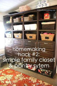 homemaking hack #2: the family closet + all the details!  This trick has saved me so much time on doing laundry for 6! I could never go back to dressers in the bedroom again!