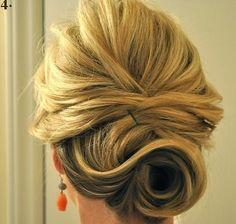 Madrinhas de casamento: Passo a passo coque de festa para cabelos médios