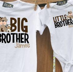 big brother little brother or sister matching set  by zoeysattic, $32.00