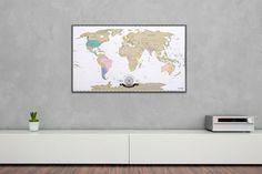 Rubbel Weltkarte Deluxe - die Landkarte zum Rubbeln