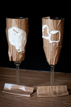 Etch your own toasting flutes. I want to do this. Looks easy and is something unique and memorable Offbeat Bride Wedding Crafts, Diy Wedding, Wedding Simple, Wedding Ideas, Toasting Flutes, Champagne Flutes, Wedding Flutes, Offbeat Bride, Crafty Craft