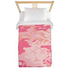 Pink Camo Twin Duvet on CafePress.com