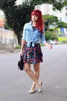 Vestido e jaqueta Youcom | Sapatilha Moleca | Bolsa Petite Jolie