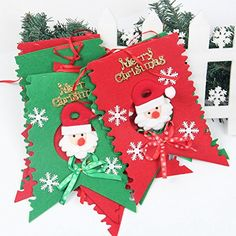 Banner Christmas Decorative Party Holiday Santa Claus Snowmen Happy Children Home By Btrada *** This is an Amazon Affiliate link. Check out this great product.