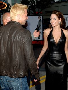 Pin for Later: Brad Pitt and Angelina Jolie's Relationship Timeline June 2005 Brad and Angelina couldn't help but swap smiles at the LA premiere of Mr. and Mrs. Smith, though they didn't pose for any photos together.