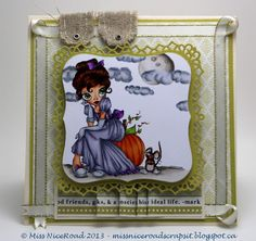 Cinderellaaa stamp from Saturated Canary+ Carta Bella's Well Played collection