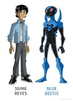 Blue Beetle Animated with Jaime Reyes by dou-hong.deviantart.com on @deviantART