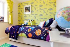 Space themed bedroom in The Canterbury at Buckby Meadows in Long Buckby | Bovis Homes