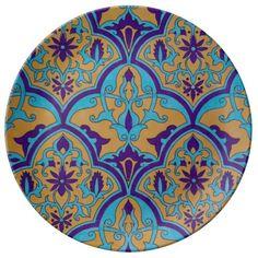 Turkish Moroccan Persian Oriental Geometric Asian Set Of Poker Chips Turkish Design, Turkish Art, Turkish Tiles, Islamic Tiles, Islamic Art, Pottery Painting, Ceramic Painting, Tile Art, Mosaic Tiles