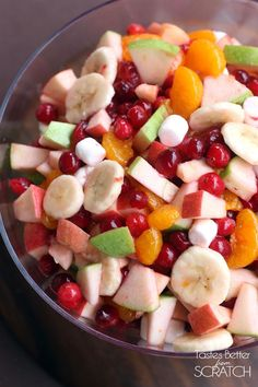 Apple Cranberry Fruit Salad | Tastes Better From Scratch