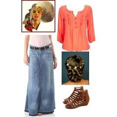 """Summer outfit"" by christianmodesty on Polyvore.   ~This outift would be cute with a lil' shorter skirt"