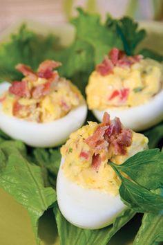 BLT Stuffed Eggs