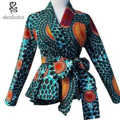 Shop African Print (Ankara) Blouses, Crop Tops, Tops, Danshiki Tops, Peplum African tops from ATMkollectionz. The best online store for beautiful ready to wear African clothing for women and children. We carry all sizes for plus size curvy women. African Fashion Designers, African Print Fashion, African Inspired Fashion, Africa Fashion, Fashion Prints, African Print Dresses, African Fashion Dresses, Ghanaian Fashion, African Prints