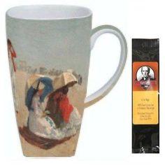 Winslow Homer East Hampton Beach Grande Coffee Mug Matching Gift Box and Tea Gift Package