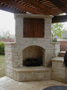 Architecture Delectable Outdoor Classic Stone Fireplace Beside Backyard With White Fireplace And White Floor,brown Ceiling Modern Rock Stone Fireplace Design Decoration Modern Rock Stone Fireplace Design Outside Fireplace, Cozy Fireplace, Fireplace Design, Fireplace Ideas, Corner Fireplaces, Fireplace Pictures, Living Pool, Outdoor Living Areas, Outdoor Stone Fireplaces