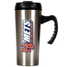 Show off your pride by drinking from this Officially Licensed Stainless Steel Travel Mug with hand-crafted metal team logo.  Fits in your vehicle cup holder, keeps drinks hot or cold and features a no spill lid. - A quality product from the licenced US sports goods, US sports wear and US sports merchanise range at Distinct Sports Goods