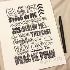 Lyrics to One Directions new single!!! Make sure to purchase it on iTunes!  Done completely in ink.  Print on 8.5 x 11 high quality cardstock.