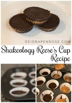 - Deidra Mangus - Shakeology Reese's Peanut Butter Cups! Reeses Cups Recipe, Reeses Peanut Butter Cup Recipe, Chocolate Peanut Butter Cups, Healthy Chocolate, Chocolate Recipes, Chocolate Mouse, Chocolate Chocolate, Homemade Chocolate, Chocolate Shakeology