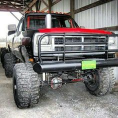 Check out www.DieselTruckGallery.com for tons of diesel truck pictures old school dodge w hood stack