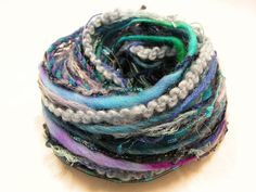Yarn Variety Hank by Jukodesigns on Etsy, Textured Yarn, Marine Blue, Different Textures, How To Better Yourself, Embroidery Thread, Textile Art, Sheep, Art Projects, Card Making