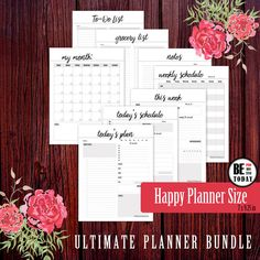 PRINTABLE ULTIMATE PRODUCTIVITY, PLANNER BUNDLE Happy Planner Size - 7 x 9.25 in, Create 365, Mambi Happy Planner, Me and My BIG Ideas, Daily Planner, Weekly Planner, Monthly Planner, To Do List Printable, Grocery List, Notes Page, planner accessories, ultimate productivity planner, planner inserts, printable planner bundle, daily schedule, weekly agenda, weekly schedule, monthly planner, be productive today