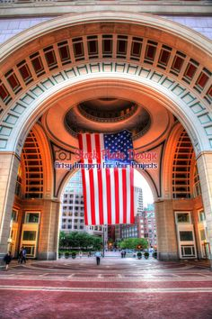 Large American Flag in HDR Large American Flag, Royalty Free Pictures, Photomontage, Image Photography, Hdr, Free Stock Photos, Boston, This Is Us, Colorful