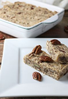 Maple Pecan Fat Bomb Bars - The Perfect #LowCarb Breakfast On-The-Go!