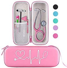 Amazon.com: BOVKE Travel Carrying Case for 3M Littmann Classic III Stethoscope - Extra Room for Taylor Percussion Reflex Hammer and Reusable LED Penlight, Pearl Pink: Health & Personal Care