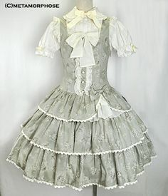 Dropped Waist Frill Pinafore Dress from Metamorphose ||| have I already pinned this? too bad, pinning it anyway.