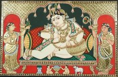 Ethnic Indian Decor: Tanjore paintings