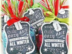 Cozy Toes Free Printable {frugal christmas presents} - great teacher gift. with pedi gift card and fuzzy socks