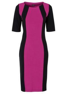 Платье, BODYFLIRT, цвет фуксии/черный