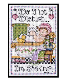 'Soaking' Counted Cross-Stitch Kit