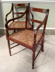A Pair of Georgian Elbow Chairs