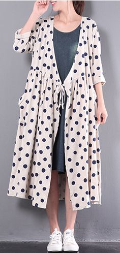 2017 new white linen dresses plus size outwear long sleeve cardigans maxi dress
