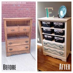Dresser with missing drawers to storage!